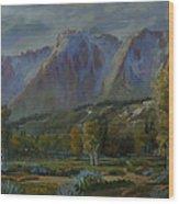 God's Country Wood Print