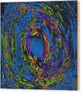 God's Fingerprint - Aquamarine Wood Print by Colleen Cannon