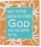 God's Gift Wood Print