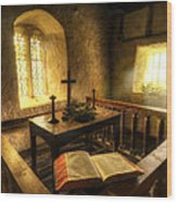 God's Holy Light Wood Print