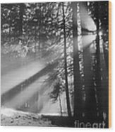 God's Light Wood Print