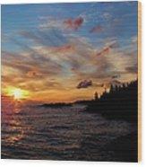 God's Morning Painting Wood Print