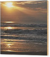 God's Rays Wood Print