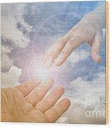 God's Saving Hand Wood Print