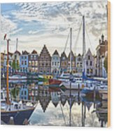 Goes Harbour Wood Print