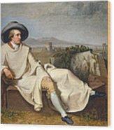 Goethe In The Roman Campagna Wood Print