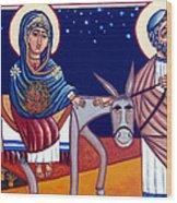 Going To Bethlehem Wood Print