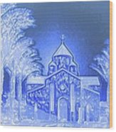 Going To Church On Christmas Wood Print