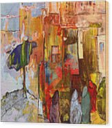 Going To The Medina In Morocco Wood Print