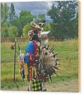 Going To The Pow Wow Wood Print
