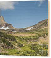 Going To The Sun Road From Highline Trail Wood Print