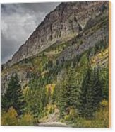 Going To The Sun Road Wood Print