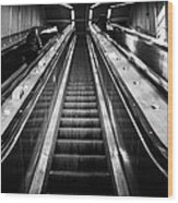 Going Up Wood Print