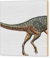 Gojirasaurus Dinosaur Wood Print