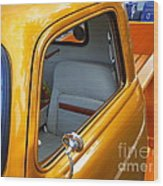 Gold 54 Chevy Truck Wood Print