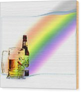 Gold At The End Of The Rainbow Wood Print