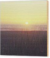 Gold Beach Sunset Wood Print