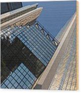 Gold Black And Blue Geometry - Royal Bank Plaza Wood Print