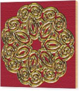 Gold Broach Wood Print