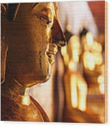 Gold Buddha At Wat Phrathat Doi Suthep Wood Print by Metro DC Photography