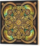 Gold Celtic Cross Wood Print