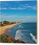Gold Coast North Wood Print