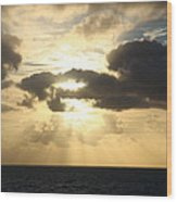 Gold Coast Sunrise Wood Print