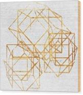 Gold Cubed II Wood Print