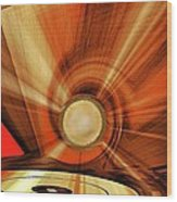 Gold Disk Wood Print