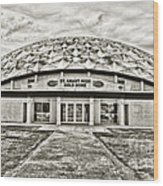 Gold Dome Wood Print