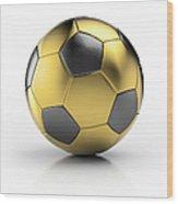 Gold Football Wood Print