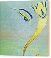 Gold Ganesh Wood Print