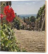 Gold Hill Shaftesbury Wood Print
