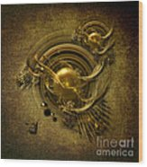 Gold Birds Wood Print