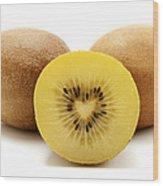 Gold Kiwifruit Wood Print