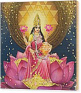 Gold Lakshmi Wood Print