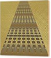 Gold Metallic 9 Wood Print