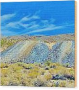 Gold Mine Tailings Wood Print