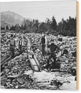 Gold Mining Claim C. 1890 Wood Print