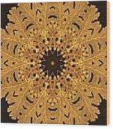 Gold Oak Leaves Wood Print
