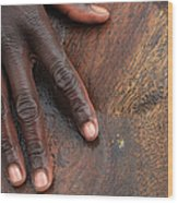 Gold Panning, Gold And Hand, Ethiopia Wood Print