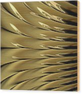 Gold Ridges Wood Print