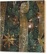Gold Tones Tree Wood Print
