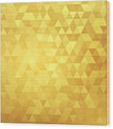 Golden abstract background Wood Print