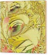 Golden Wood Print