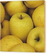Golden Apples Wood Print