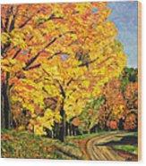 Golden Autumn Colors Wood Print