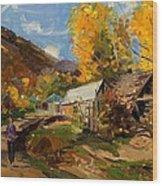 Golden Autumn In Vithkuq Korce Wood Print
