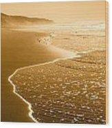 Golden Beach 1 Wood Print