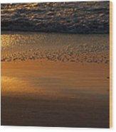 Golden Beach Wood Print